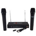 Amazon.com : Axess MPWL1504-BLK Professional Dual Wireless Microphone, Wireless FM Receiver : Wireless Microphone Sys...