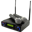 Amazon.com: Pyle-Pro PDWM3300 Wireless Professional UHF Dual Channel Microphone System With 2 Microphones and Adjusta...