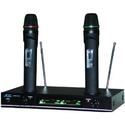 Amazon.com : Audio2000s Awm6112 VHF Dual Channel Rechargeable Wireless Microphone : Musical Instruments