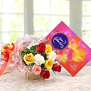 Buy/Send Celebrations with Roses Online - YuvaFlowers.com