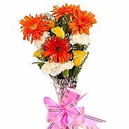 Buy/Send Twelve Colorful Assorted Flowers Bouquet - YuvaFlowers