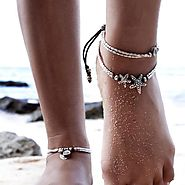 Boho Starfish Anklet OR Vintage Knot Anklet - Grace Callie Designs