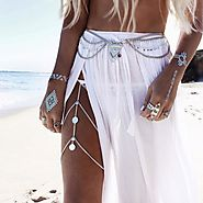 The Searcher Layered Silver Thigh / Leg Chain jewelry - Grace Callie Designs