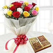 Send Love You Nutty Combo Online Same Day Delivery - OyeGifts.com