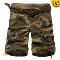Belted Camo Cargo Shorts for Men CW140066