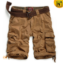 Mens Belted Cotton Cargo Shorts CW140065
