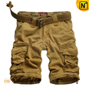 Loose Fit Belted Cargo Shorts for Men CW140061