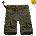 Olive Green Cargo Shorts for Men CW140063