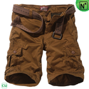 Belted Cargo Shorts for Men CW140169