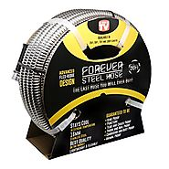 Forever Steel Hose (50') 304 Stainless Steel Garden Hose - As Seen On TV - Lightweight, Kink-Free, and Stronger Than ...