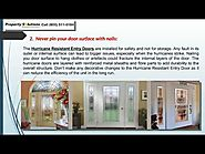 Top 5 Tips To Maximize The Utility Of Hurricane Resistant Entry Door