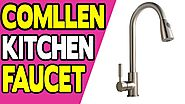 Comllen Commercial Stainless Steel Single Handle Pull Down Sprayer Kitchen Faucet