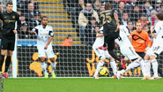 Manchester City beat Swansea City in their first game of 2014