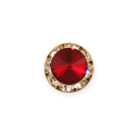 Faceted Tie Tack - Ruby