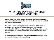 What to do When Dating a Single Mother