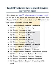 Top erp software development services provider in india