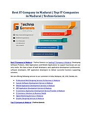 Best it company in madurai top it companies in madurai - techno genesis
