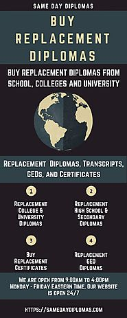 Same Day Diplomas — Buy replacement diplomas, transcripts, GED and...