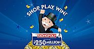 Safeway Monopoly Game - Win $1 Million Cash / Vacation Trip and Other Exciting Prizes