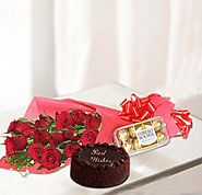 Buy/Send Rosy & Chocolaty Gift Combo Online - YuvaFlowers.com