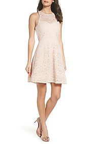 Sequin Hearts Glitter Lace Strappy Back Party Dress | Nordstrom