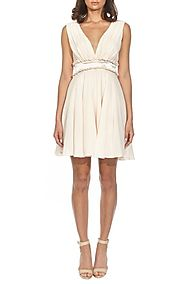 TFNC Joany Ruffle Waist Fit & Flare Dress | Nordstrom