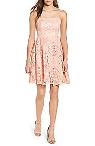 Soprano Lace Fit & Flare Dress | Nordstrom