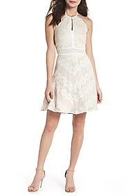 Morgan & Co. Lace Halter Dress | Nordstrom