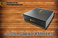 Custom Apparel boxes- appeal your clients with quality
