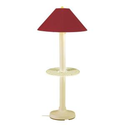 Patio Living Concepts Catalina Bisque Outdoor Floor Lamp with attached Tray Table and Burgandy Shade Large-34694 at T...