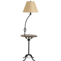 Cal Lighting BO-2095FL Table Lamp with Beige Fabric Shades, Cherry Finish - Amazon.com