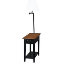 Amazon.com - Leick Chair Side Lamp Table with Drawer, Antique Black