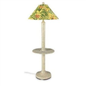 Amazon.com : Catalina Outdoor Floor Lamp with Attached Tray Table and Sunbrella Shade Shade Color: Soleil : Home Impr...