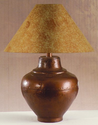 Southwest Style Table Lamp Copper Finish