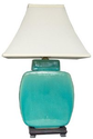Amazon.com - Oriental Furniture Southwest Turquoise Decor 20-Inch Azure Glazed Ceramic Jar Desk/Table Lamp, JCO-X4014...