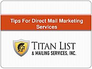 Tips For Direct Mail Marketing Services