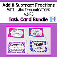 Add and Subtract Fractions Bundle by Mercedes Hutchens | TpT