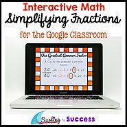 Simplify Fractions: Interactive Math for the Google Classroom | TpT