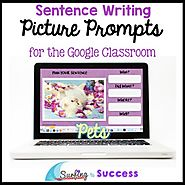 Respond to a Picture Prompt PETS Sentence Writing Google Classroom