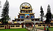 Bylakuppe buddhist golden temple