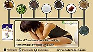 Natural Treatment for External Piles, Hemorrhoids Swelling and Pain