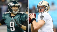 Opponents on Saturday, Drew Brees and Nick Foles share a bond