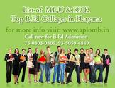 Get complete list of MDU University B.Ed Colleges in Haryana