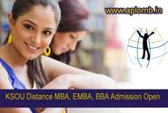 Student can apply online for KSOU MBA & BBA Courses Admission