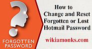 How to Change and Reset a Lost Hotmail Password