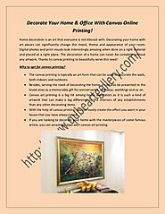 Buy canvas online printing services in dubai