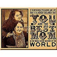 Mother?s Day Incredible Gift - Engraved Wooden Photo Plaque (8x6)