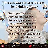 Ways to lose weight by drinking water