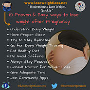 10 Easy Ways to Lose Weight after Pregnancy | Lose Weight Loss