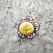 Stone work Golden Sunset Ring